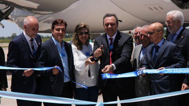Arribó el primer vuelo de Air Europa que une a Córdoba con Madrid