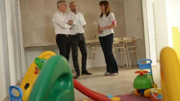 Avilés recorrió obras de remodelación en el centro infantil