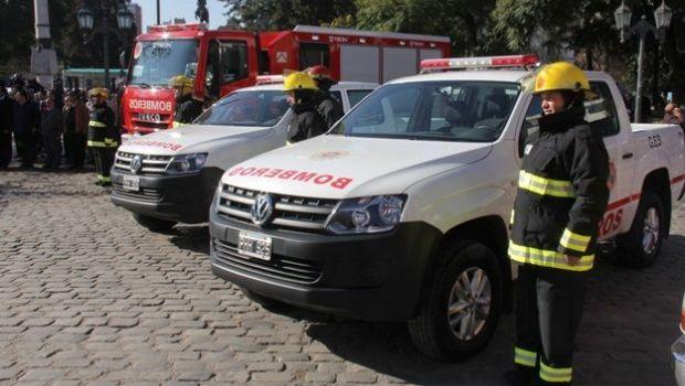 Córdoba envió bomberos y equipamiento a La Pampa