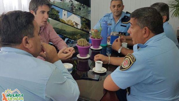 Seguridad: Huerta Grande trabajó con el nuevo jefe de la departamental
