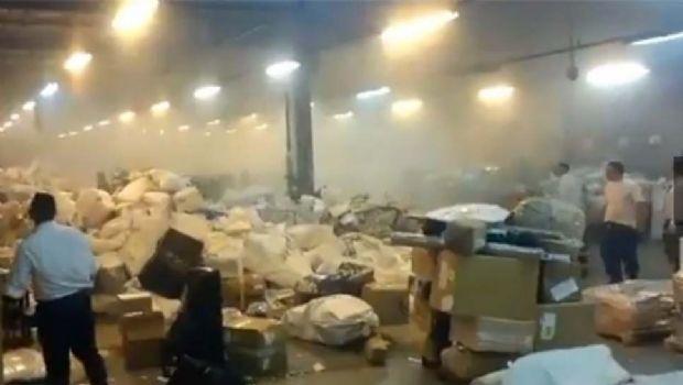 Explotó una bomba  en una sede del Correo Argentino
