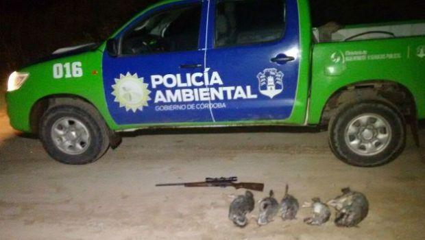 Ambiente detuvo a cazador furtivo en el lago Los Molinos