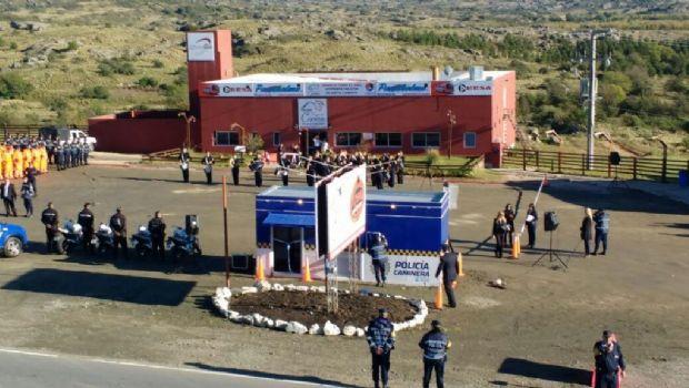 La Policía Caminera se instala en el camino de las Altas Cumbres