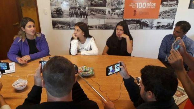 Las patinadoras del Club Sarmiento recibieron un subsidio del municipio