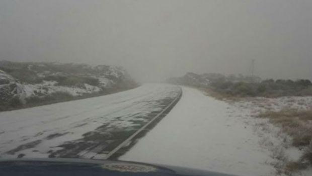 Anoche cayeron los primeros copos de nieve en las Altas Cumbres